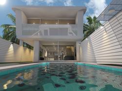cha am villa  pool
