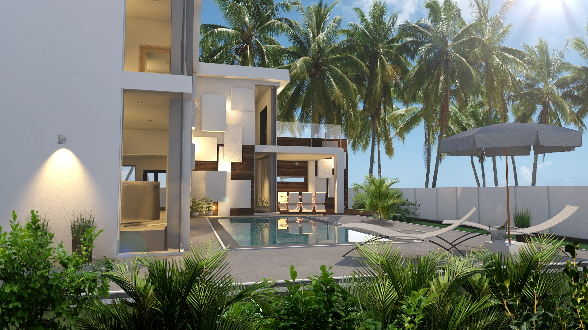 pool villa phuket sideview