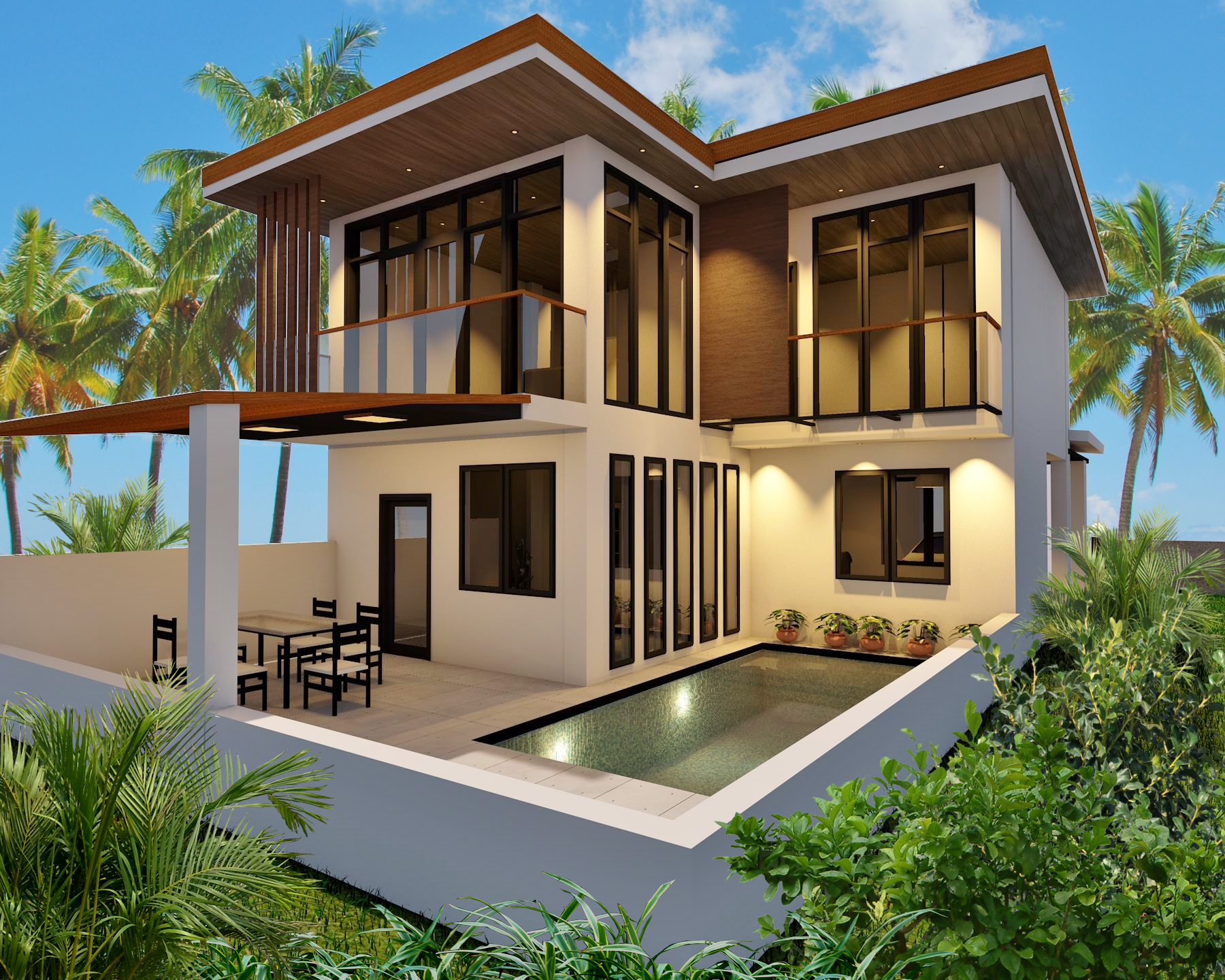 affordable pool villa