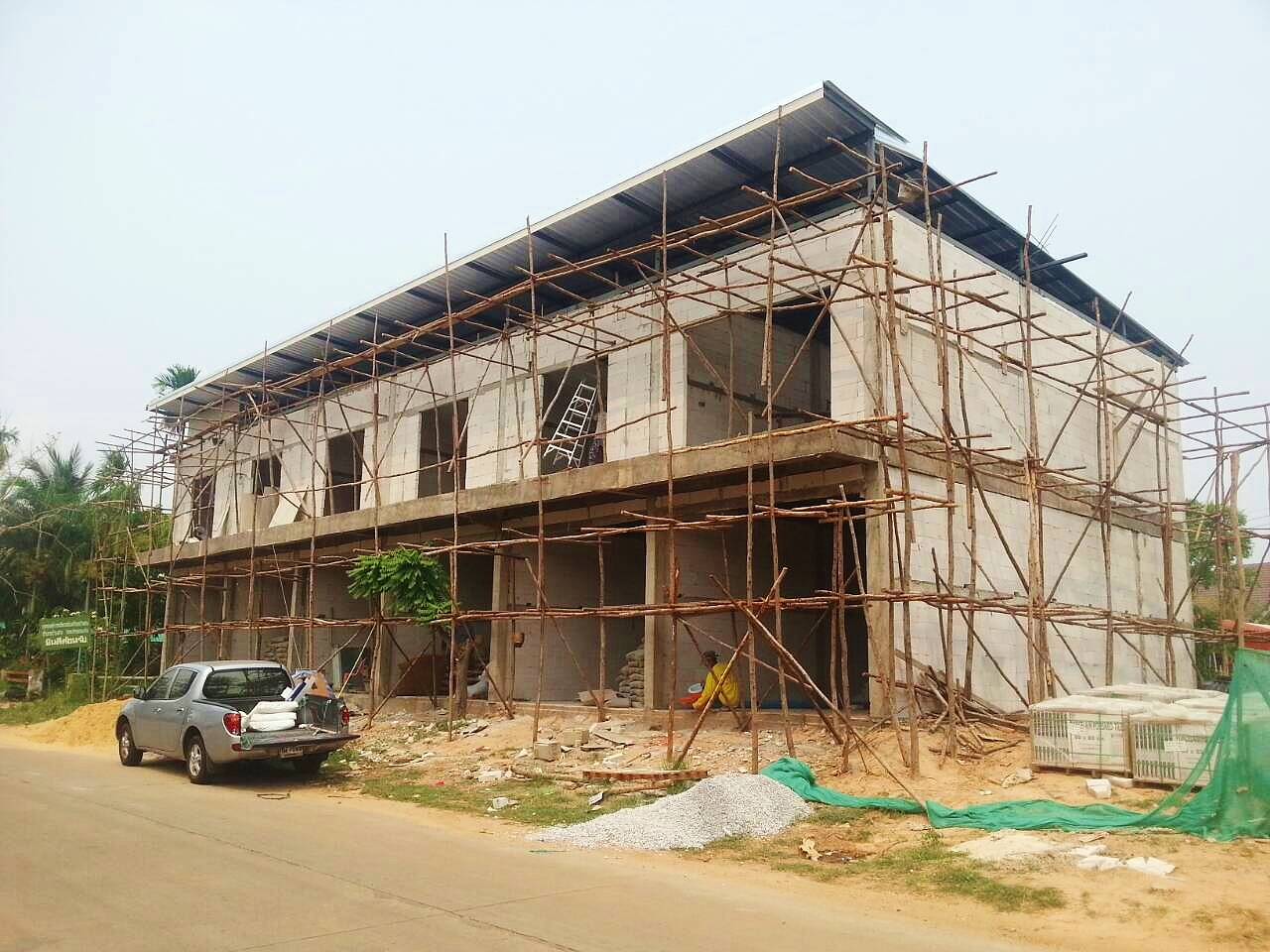 Townhouse construction in Khon Kaen