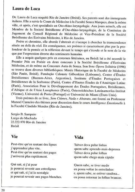 Tradução do poema Vida para o francês