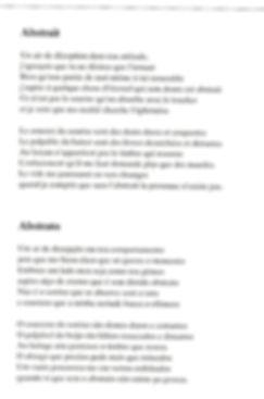 Tradução do poema Abstratos para o francês