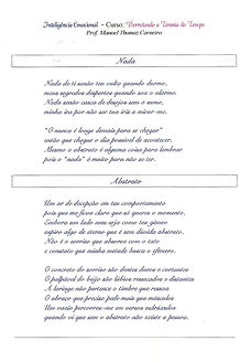 Poemas como exemplos em cusro de inteligência emocional