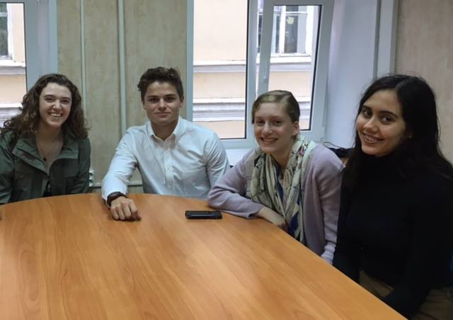 American students studying Russian in St. Petersburg