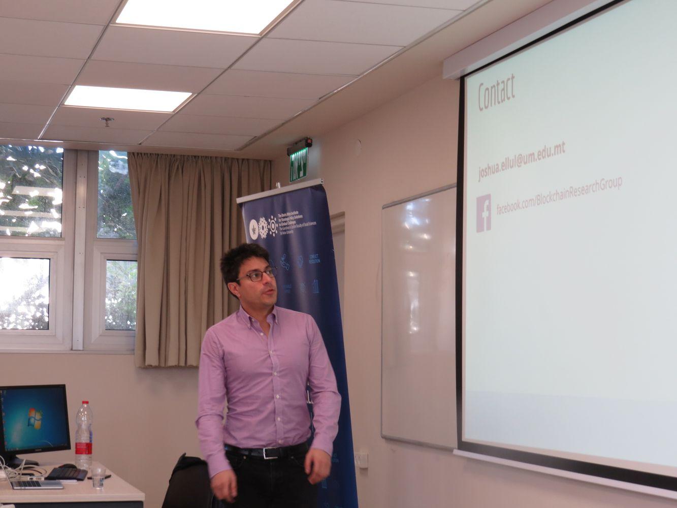 Dr J. Ellul, Blockchain Lecture, 4
