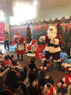 Santa Meeting all of the Children