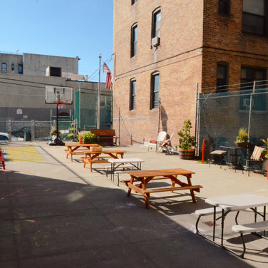 Our Courtyard in the warm seasons.
