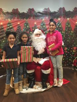 Santa Claus is at Belmont