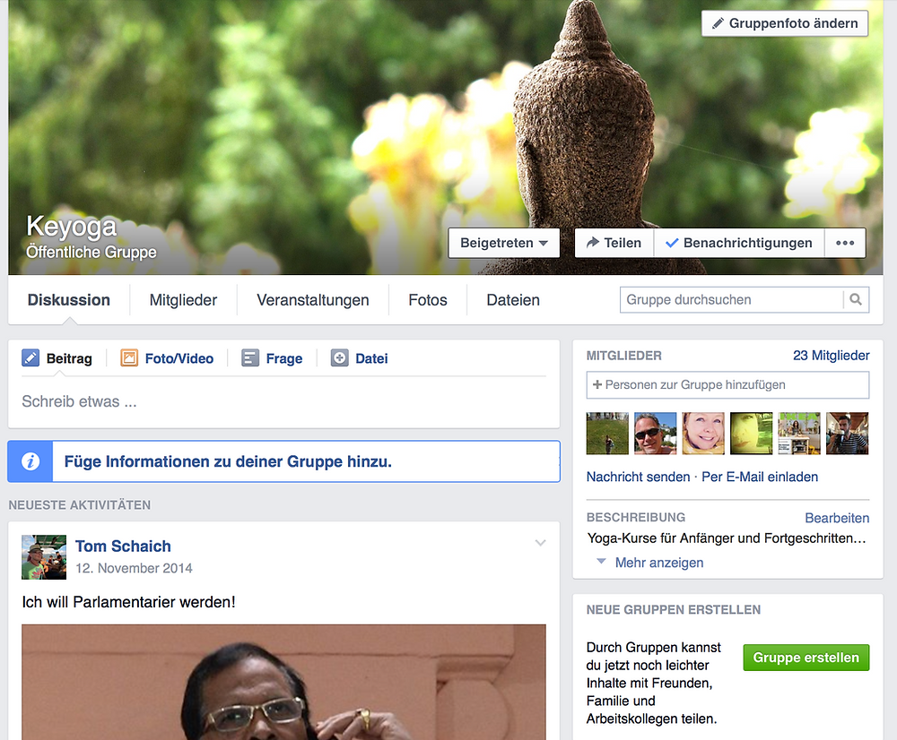 Keyoga auf Facebook. Alle News über Yoga Oberbuchsiten und Yoga Basel