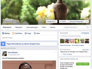 Keyoga auf Facebook