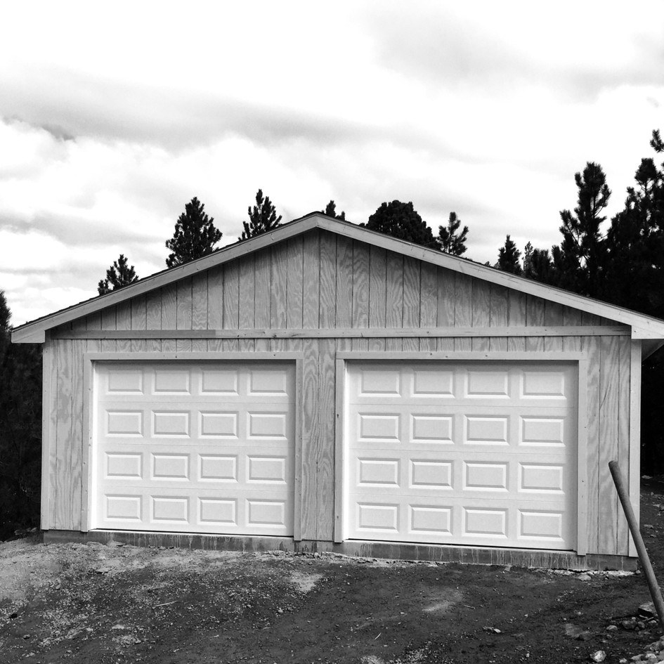 24 X 24 Garage with a 2 Door Style!