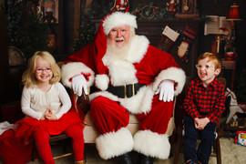 Christmas Santa Twins-Photography by Daw