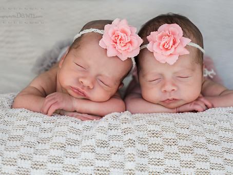 Toronto Newborn Twin Photographer ~ Precious girls