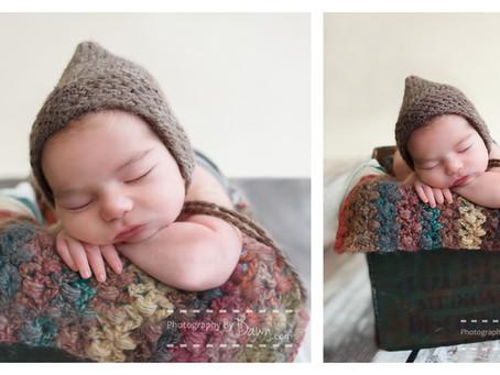Toronto Newborn Photographer ~ Newborn boy with attitude!