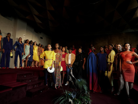 """Champagne and Velvet Walls- Chuks Collins Premiers """"Resurrection"""" at NYFW"""