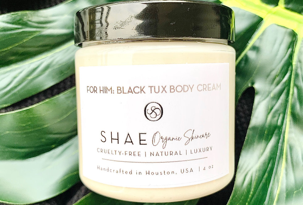 For Him: Black Tux Body Cream| Easy Absorption 4 oz