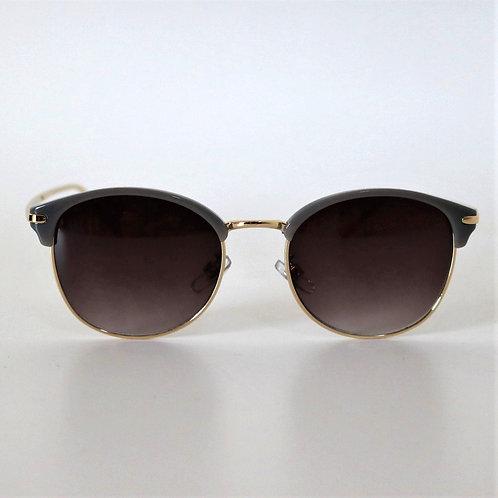7012 グレイ・ゴールド Sunglasses/スモークハーフレンズ