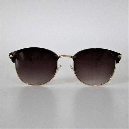 7012 デミ・ゴールドSunglasses/スモークハーフレンズ