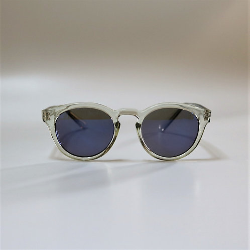 654 Clear Sunglasses  (BlueMirror)