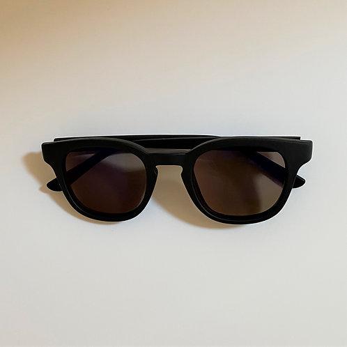 5041 Mat Black Sunglasses / ブラウンミラーレンズ