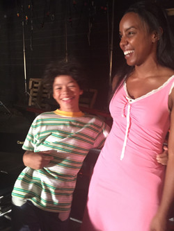 Set of Empire with Kelly Rowland