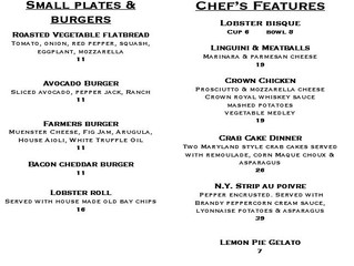 Full menu available Plus Features! 7/24/20