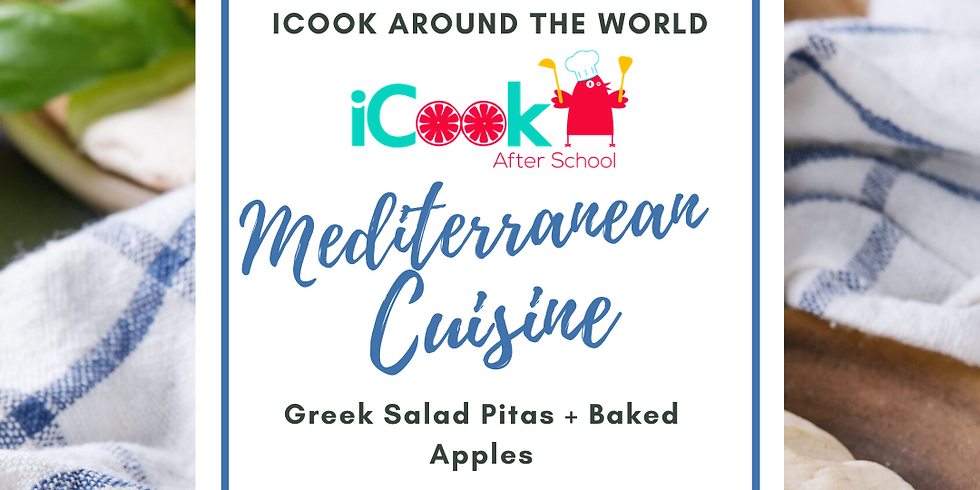 iCook: DROP IN - Baked Apricots,  Greek Salad Pitas