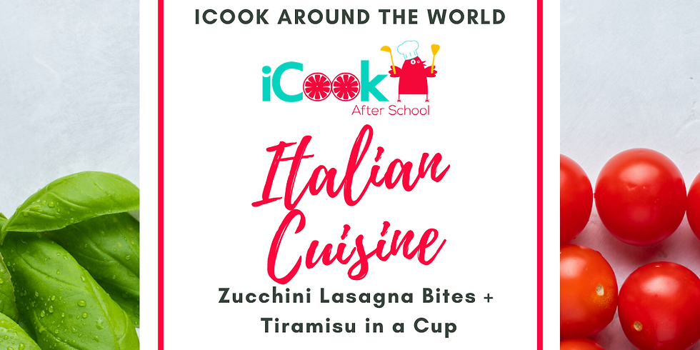 iCook: DROP IN - Zucchini Lasagna Cups & Tiramisu