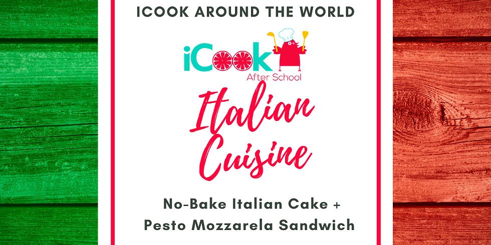iCook: DROP IN - Italian Cake and Pesto Mozzarella Sandwich