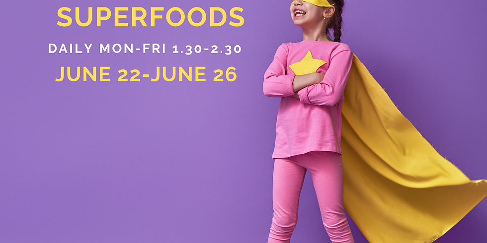 iCook Superheroes and Superfoods - Daily Summer Camp