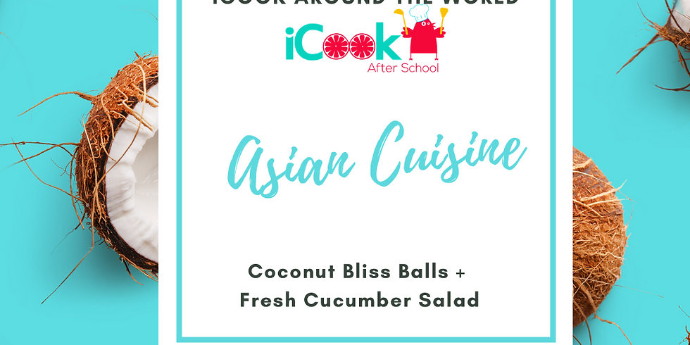 iCook: DROP IN - Coconut Bliss Balls and Cucumber Salad