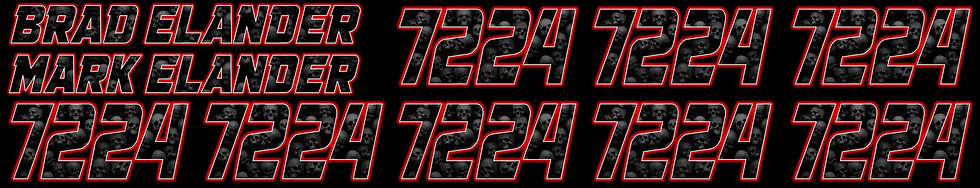 Custom Printed Name and Number Sets