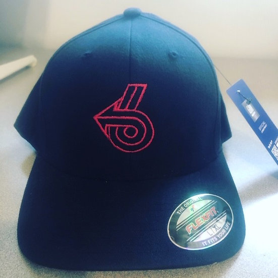 Navy Blue Power 6 Outline Flexfit Hat