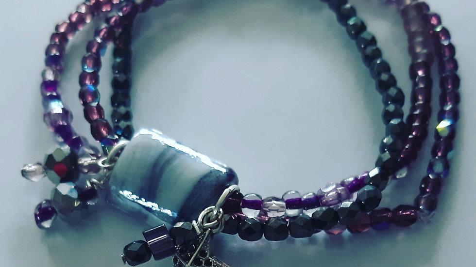 Paarse Rock Chique Bracelet