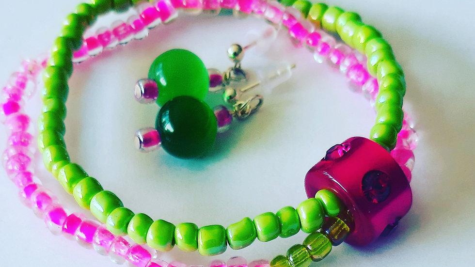 Meisjes Setje Pinkie Green