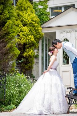 結婚写真 ガーデンウエディング