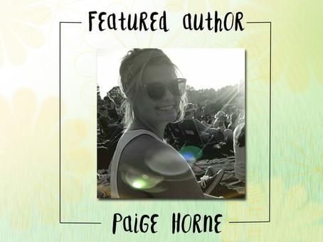 Featured Author: Paige P. Horne