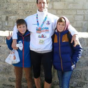 Patrice au marathon de La Rochelle le 27/11/2016