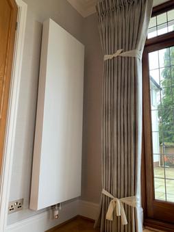 Designer radiator installation in Cyncoed, Cardiff