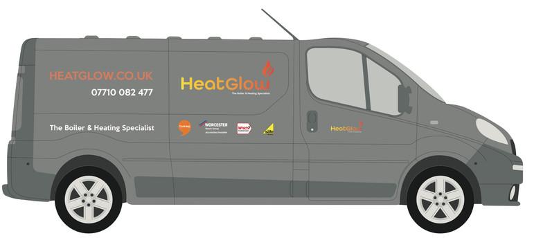 HeatGlow Van signwriting