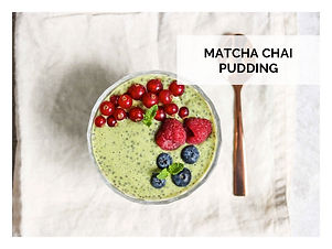 MATCHA CHAI PUDDING