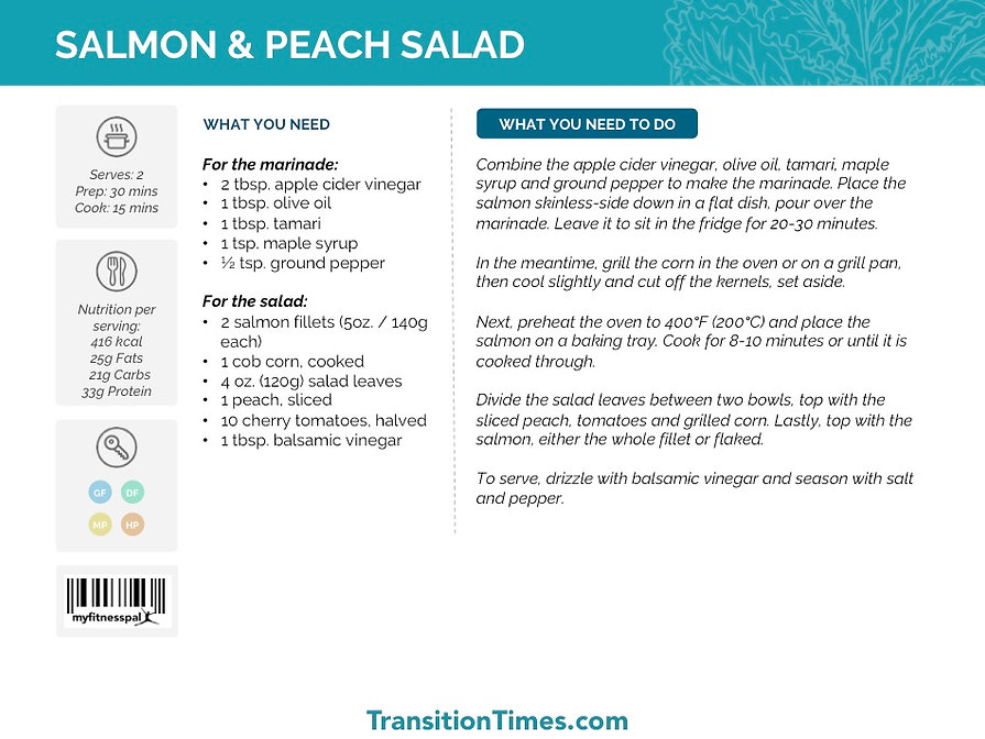 SALMON & PEACH SALAD