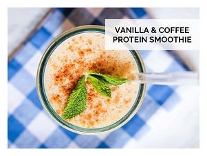 VANILLA & COFFEE PROTEIN SMOOTHIE