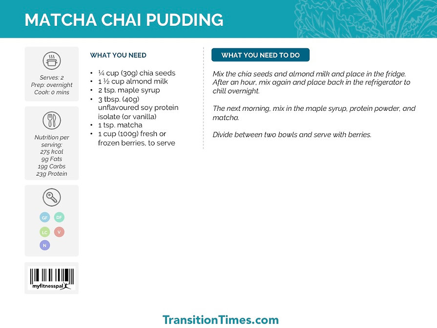 MATCHA CHAI PUDDING