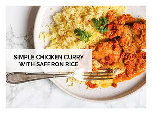 SIMPLE CHICKEN CURRY WITH SAFFRON RICE
