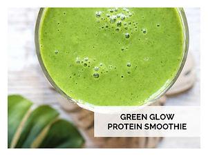 GREEN GLOW PROTEIN SMOOTHIE