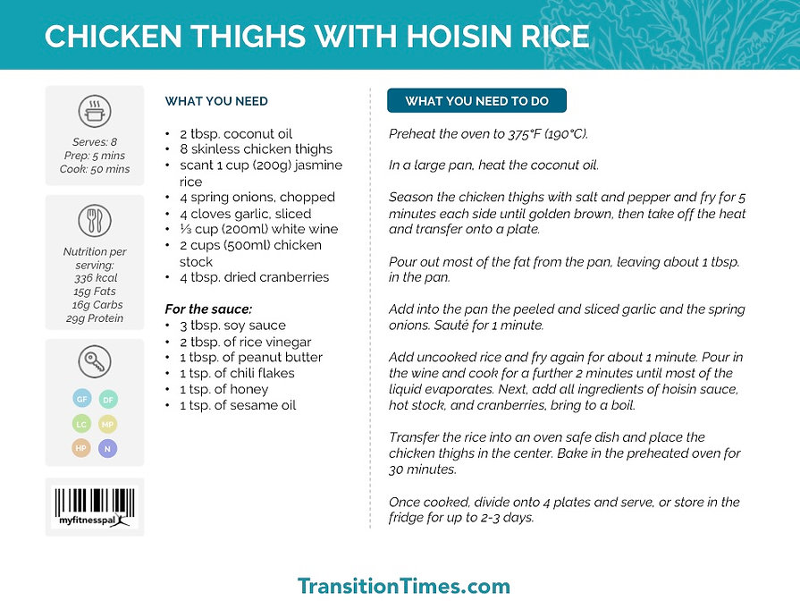 CHICKEN THIGHS WITH HOISIN RICE