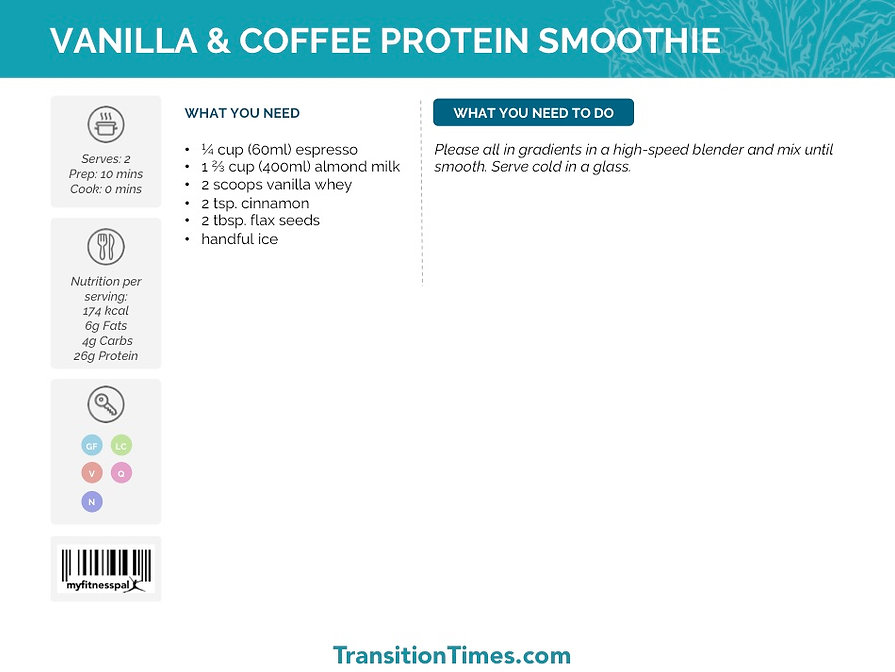 VANILLA & COFFEE PROTEIN SMOOTHIE