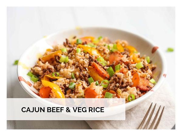 CAJUN BEEF & VEG RICE