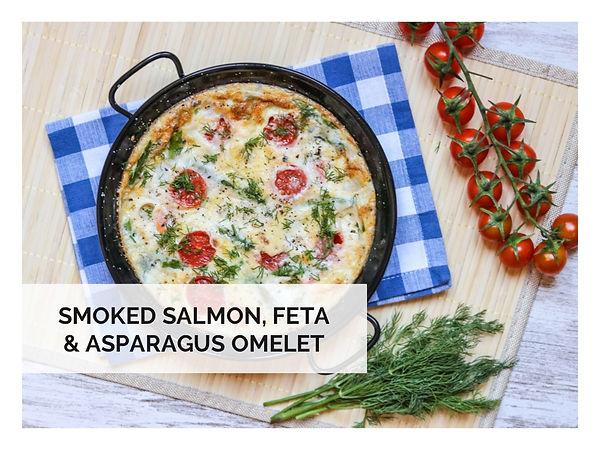 SMOKED SALMON, FETA & ASPARAGUS OMELET